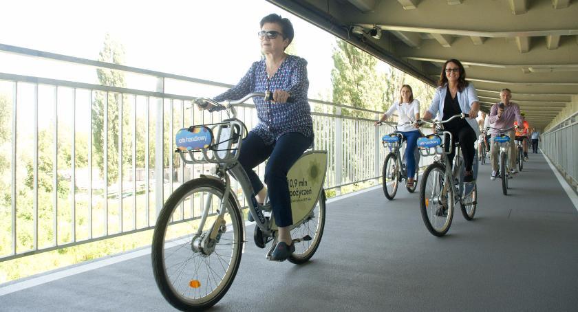 Rower, Kładka rowerowa Łazienkowskim otwarta! - zdjęcie, fotografia