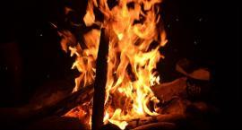Pożar na terenie Rodzinnych Ogródków Działkowych