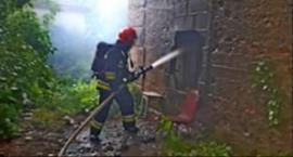 Pożar pustostanu przy ul. Łukowskiej