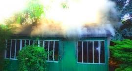 Znów pożar domku na ogródkach działkowych przy Kinowej...Zdjęcia straży