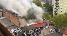 Spłonął barak przy ul. Mlądzkiej. W środku był bezdomny