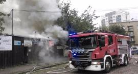 Dwa pożary Bazarku Rogatka przy ul. Kamionkowskiej